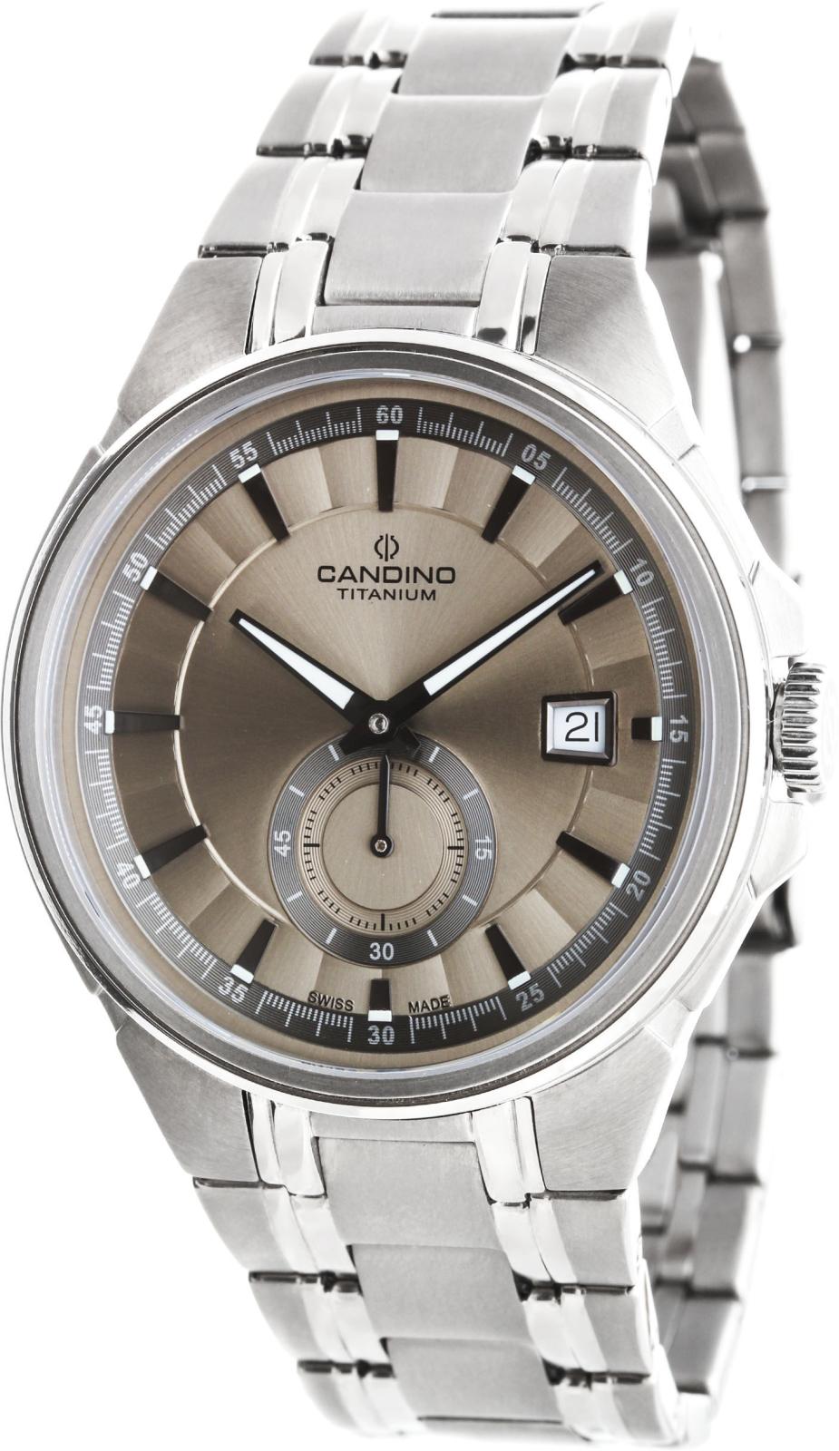 Candino Casual C4604/2Наручные часы<br>Швейцарские часы Candino Casual C4604/2<br><br>Пол: Мужские<br>Страна-производитель: Швейцария<br>Механизм: Кварцевый<br>Материал корпуса: Титан<br>Материал ремня/браслета: Титан<br>Водозащита, диапазон: None<br>Стекло: Сапфировое<br>Толщина корпуса: None<br>Стиль: None