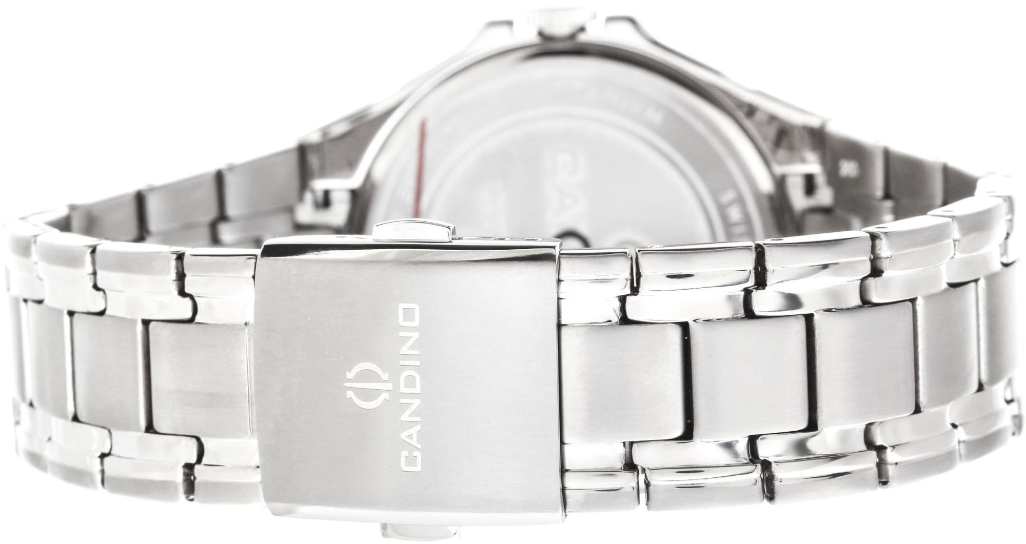 Candino Titanium C4604/4Наручные часы<br>Швейцарские часы Candino Titanium C4604/4<br><br>Пол: Мужские<br>Страна-производитель: Швейцария<br>Механизм: Кварцевый<br>Материал корпуса: Титан<br>Материал ремня/браслета: Титан<br>Водозащита, диапазон: None<br>Стекло: Сапфировое<br>Толщина корпуса: None<br>Стиль: None