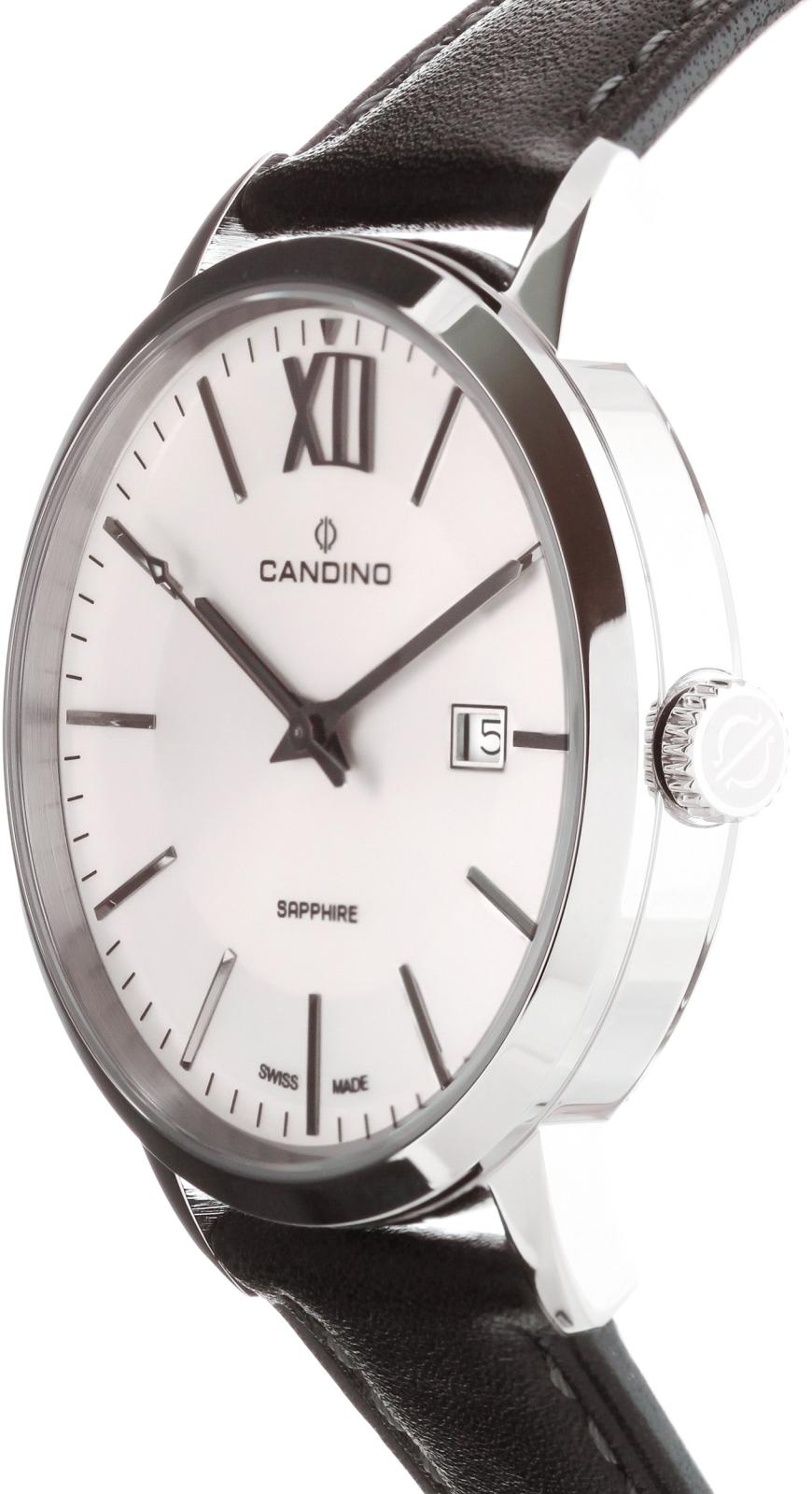Candino Classic C4618/3Наручные часы<br>Швейцарские часы Candino Classic C4618/3<br><br>Пол: Мужские<br>Страна-производитель: Швейцария<br>Механизм: Кварцевый<br>Материал корпуса: Сталь<br>Материал ремня/браслета: Кожа<br>Водозащита, диапазон: None<br>Стекло: Сапфировое<br>Толщина корпуса: None<br>Стиль: None