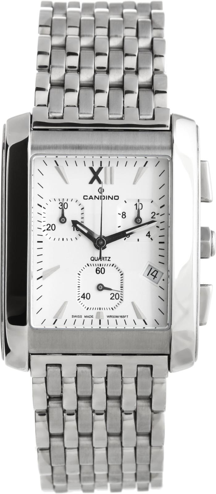 Candino Chronograph C7502/1Наручные часы<br>Швейцарские часы Candino Chronograph C7502/1<br><br>Пол: Мужские<br>Страна-производитель: Швейцария<br>Механизм: Кварцевый<br>Материал корпуса: Сталь<br>Материал ремня/браслета: Сталь<br>Водозащита, диапазон: 20 - 100 м<br>Стекло: Минеральное<br>Толщина корпуса: None<br>Стиль: Спорт