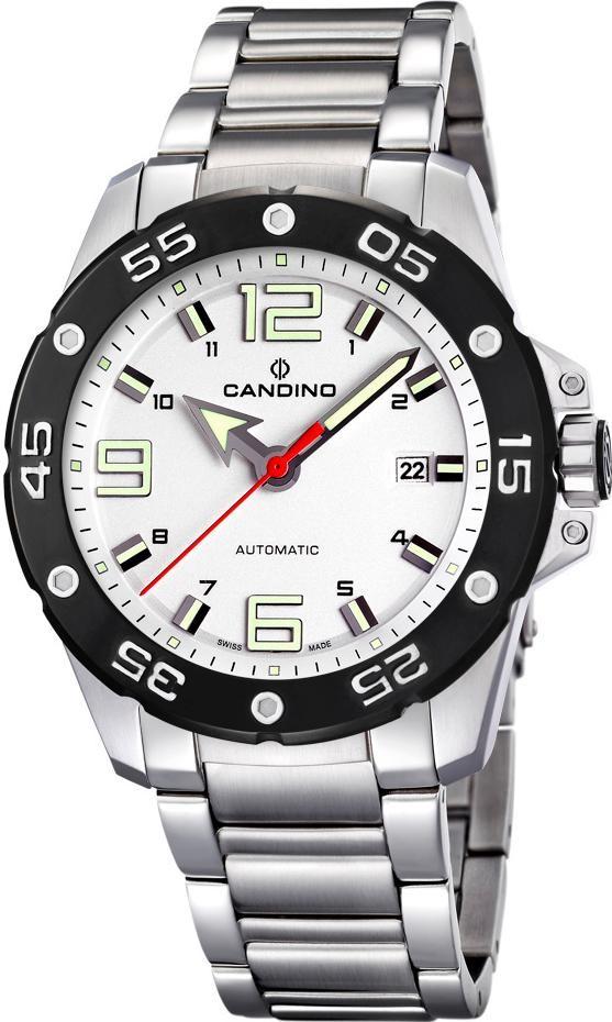 Candino Sport C4452/1Наручные часы<br>Швейцарские часы Candino Sport C4452/1<br><br>Для кого?: Мужские<br>Страна-производитель: Швейцария<br>Механизм: Механический<br>Материал корпуса: Сталь<br>Материал ремня/браслета: Сталь<br>Водозащита, диапазон: 100 - 150 м<br>Стекло: Сапфировое<br>Толщина корпуса: None<br>Стиль: Классика