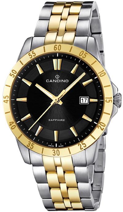 Candino Casual C4514/2Наручные часы<br>Швейцарские часы Candino Casual C4514/2<br><br>Для кого?: Мужские<br>Страна-производитель: Швейцария<br>Механизм: Кварцевый<br>Материал корпуса: Сталь<br>Материал ремня/браслета: Сталь<br>Водозащита, диапазон: 20 - 100 м<br>Стекло: Сапфировое<br>Толщина корпуса/: <br>Стиль: Классика