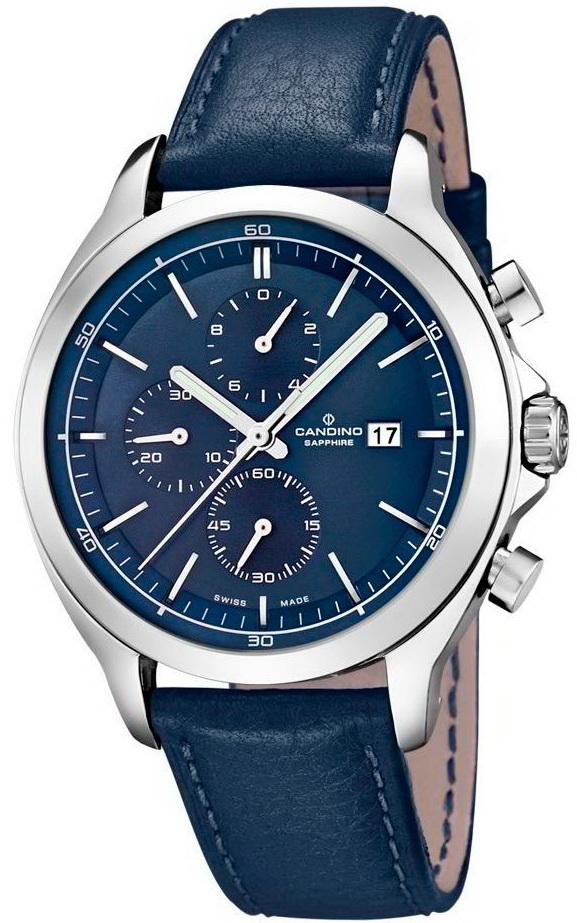 Candino Elegance C4516/2Наручные часы<br>Швейцарские часы Candino Elegance C4516/2<br><br>Для кого?: Мужские<br>Страна-производитель: Швейцария<br>Механизм: Кварцевый<br>Материал корпуса: Сталь<br>Материал ремня/браслета: Кожа<br>Водозащита, диапазон: 100 - 150 м<br>Стекло: Сапфировое<br>Толщина корпуса/: <br>Стиль: Классика