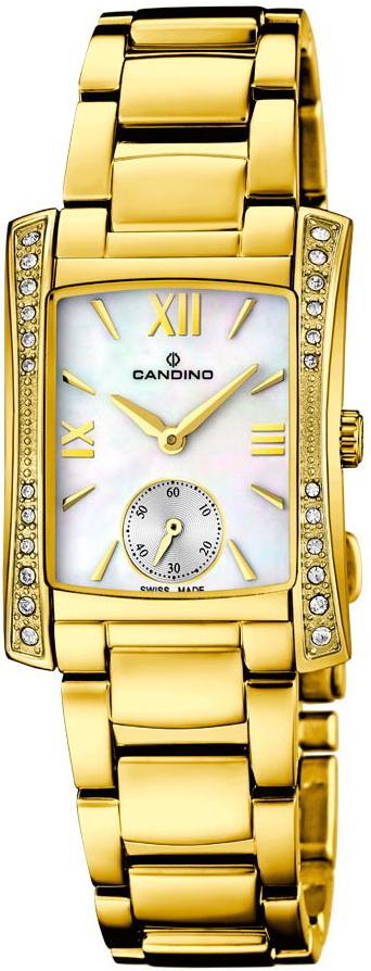 Candino Elegance C4555/1Наручные часы<br>Швейцарские часы Candino Elegance C4555/1<br><br>Для кого?: Женские<br>Страна-производитель: Швейцария<br>Механизм: Кварцевый<br>Материал корпуса: Сталь<br>Материал ремня/браслета: Сталь<br>Водозащита, диапазон: 20 - 100 м<br>Стекло: Сапфировое<br>Толщина корпуса: 7 мм<br>Стиль: Классика