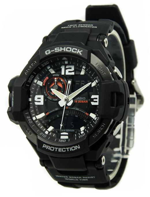 Casio G-shock Gravitymaster GA-1000-1AНаручные часы<br>Японские часы Casio G-shock GravitymasterGA-1000-1A<br><br>Пол: Мужские<br>Страна-производитель: Япония<br>Механизм: Кварцевый<br>Материал корпуса: Пластик<br>Материал ремня/браслета: Каучук<br>Водозащита, диапазон: None<br>Стекло: Минеральное<br>Толщина корпуса: 16,6 мм<br>Стиль: None