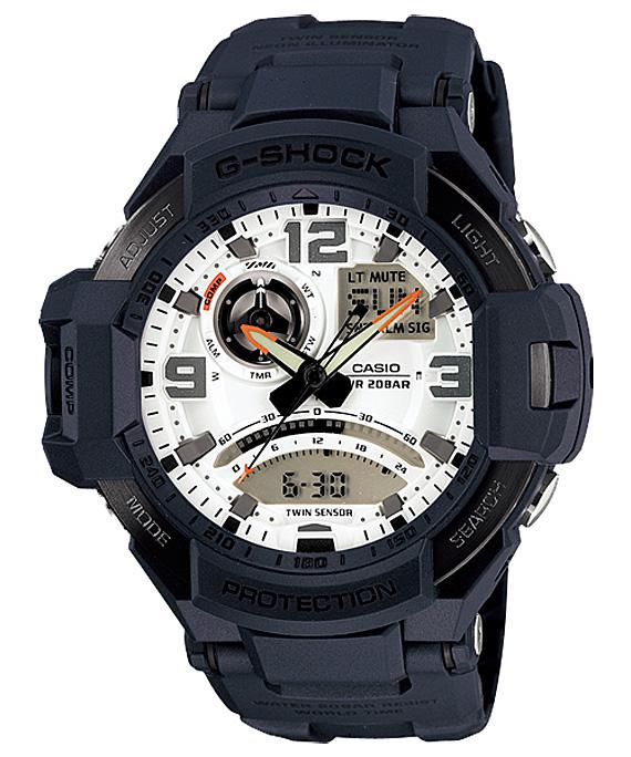 Casio G-shock GA-1000-2AНаручные часы<br>Японские часы Casio G-shock GA-1000-2AДанная модель — яркий представитель коллекции G-shock. Это стильные мужские часы. Материал корпуса часов — сталь+пластик. Стекло - минеральное. Водозащита этой модели 200 м. Основной цвет циферблата белый. Циферблат модели содержит  часы, минуты, секунды. В этих часах используются такие усложнения как дата, день недели, сложный календарь, второе поясное время, будильник, . Размер данной модели 52х51мм.<br><br>Для кого?: Мужские<br>Страна-производитель: None<br>Механизм: Кварцевый<br>Материал корпуса: Сталь+пластик<br>Материал ремня/браслета: Пластик<br>Водозащита, диапазон: None<br>Стекло: Минеральное<br>Толщина корпуса: 17<br>Стиль: Классика