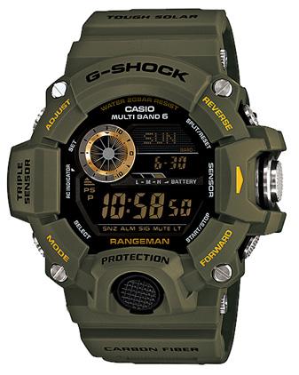 Casio G-shock Rangeman GW-9400-3EНаручные часы<br>Японские часы Casio G-shock Rangeman GW-9400-3E<br><br>Пол: Мужские<br>Страна-производитель: Япония<br>Механизм: Кварцевый<br>Материал корпуса: Пластик<br>Материал ремня/браслета: Каучук<br>Водозащита, диапазон: None<br>Стекло: Минеральное<br>Толщина корпуса: 18,2 мм<br>Стиль: None