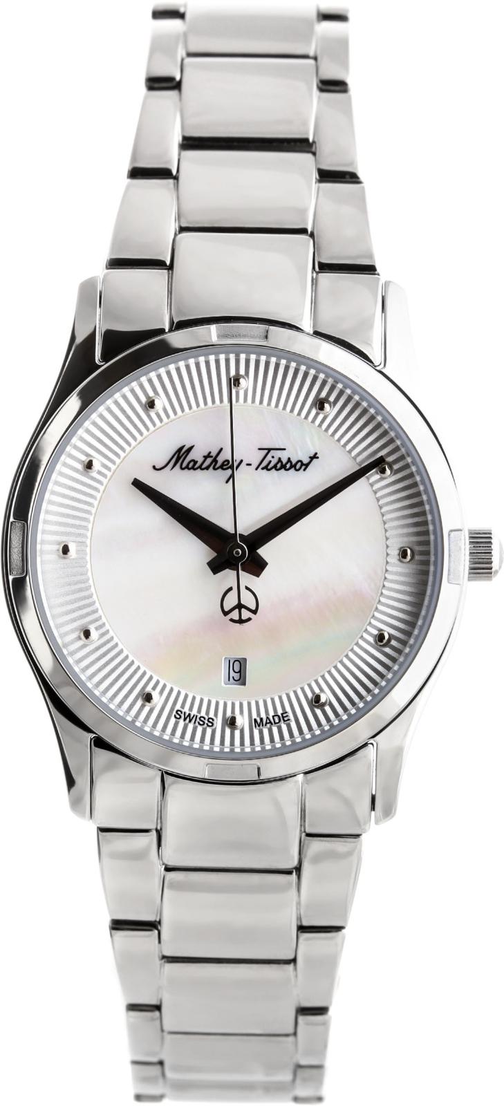 Mathey-Tissot Elisa D2111AIНаручные часы<br>Швейцарские часы Mathey-Tissot&amp;nbsp;&amp;nbsp;Elisa D2111AI<br><br>Пол: Женские<br>Страна-производитель: Швейцария<br>Механизм: Кварцевый<br>Материал корпуса: Сталь<br>Материал ремня/браслета: Сталь<br>Водозащита, диапазон: None<br>Стекло: Сапфировое<br>Толщина корпуса: None<br>Стиль: None