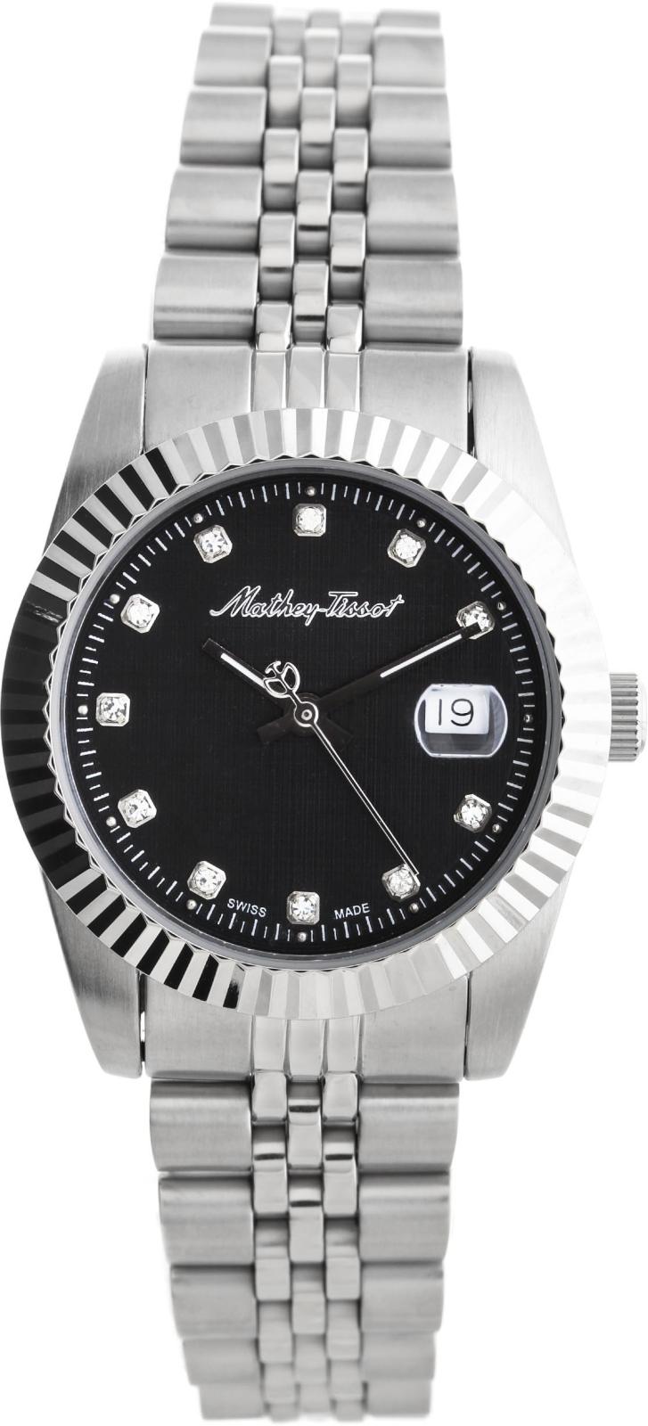Mathey-Tissot Rolly D810ANНаручные часы<br>Швейцарские часы Mathey-Tissot Rolly D810AN<br><br>Пол: Женские<br>Страна-производитель: Швейцария<br>Механизм: Кварцевый<br>Материал корпуса: Сталь<br>Материал ремня/браслета: Сталь<br>Водозащита, диапазон: None<br>Стекло: Минеральное<br>Толщина корпуса: None<br>Стиль: None