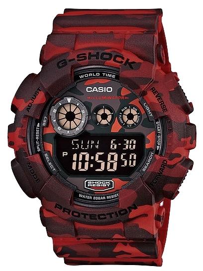 Casio G-shock GD-120CM-4EНаручные часы<br>Японские часы Casio G-shock GD-120CM-4E<br><br>Пол: Мужские<br>Страна-производитель: Япония<br>Механизм: Кварцевый<br>Материал корпуса: Пластик<br>Материал ремня/браслета: Каучук<br>Водозащита, диапазон: None<br>Стекло: Минеральное<br>Толщина корпуса: 20,4 мм<br>Стиль: None