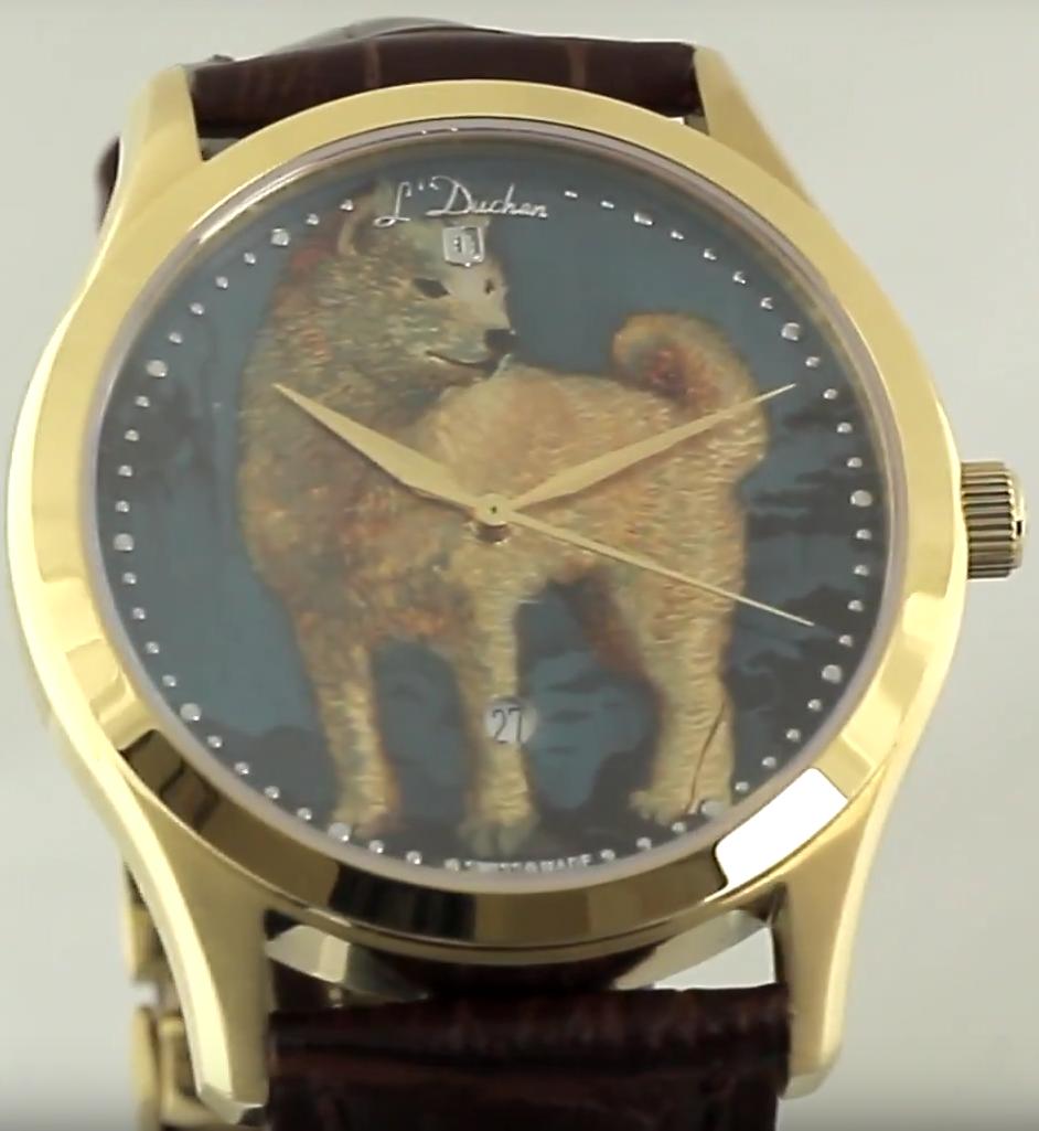 Купить Швейцарские часы L'DuchenD 161.21.21.AC - Golden Dog, L'Duchen D 161.21.21.AC - Golden Dog, L`Duchen