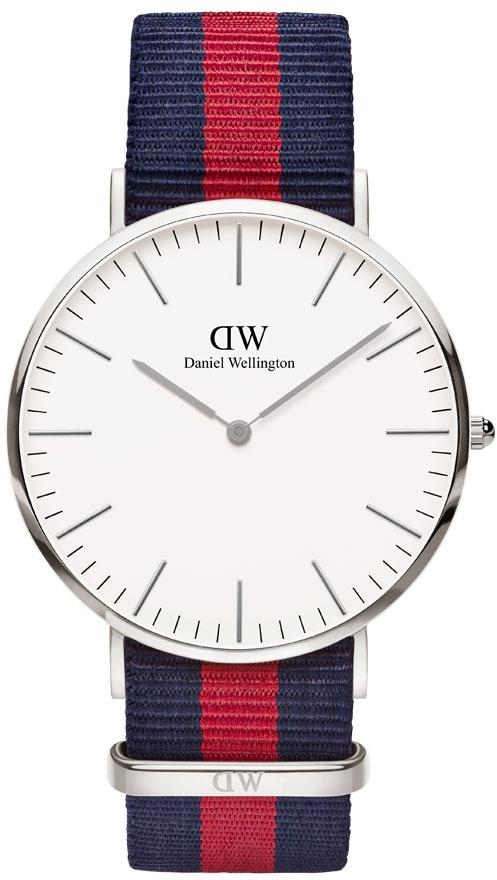 Daniel Wellington Classic Oxford DW00100015Наручные часы<br>Шведские часы Daniel Wellington Classic Oxford DW00100015<br><br>Пол: Мужские<br>Страна-производитель: Швеция<br>Механизм: Кварцевый<br>Материал корпуса: Сталь<br>Материал ремня/браслета: Нейлон<br>Водозащита, диапазон: None<br>Стекло: Минеральное<br>Толщина корпуса: 6  мм<br>Стиль: None