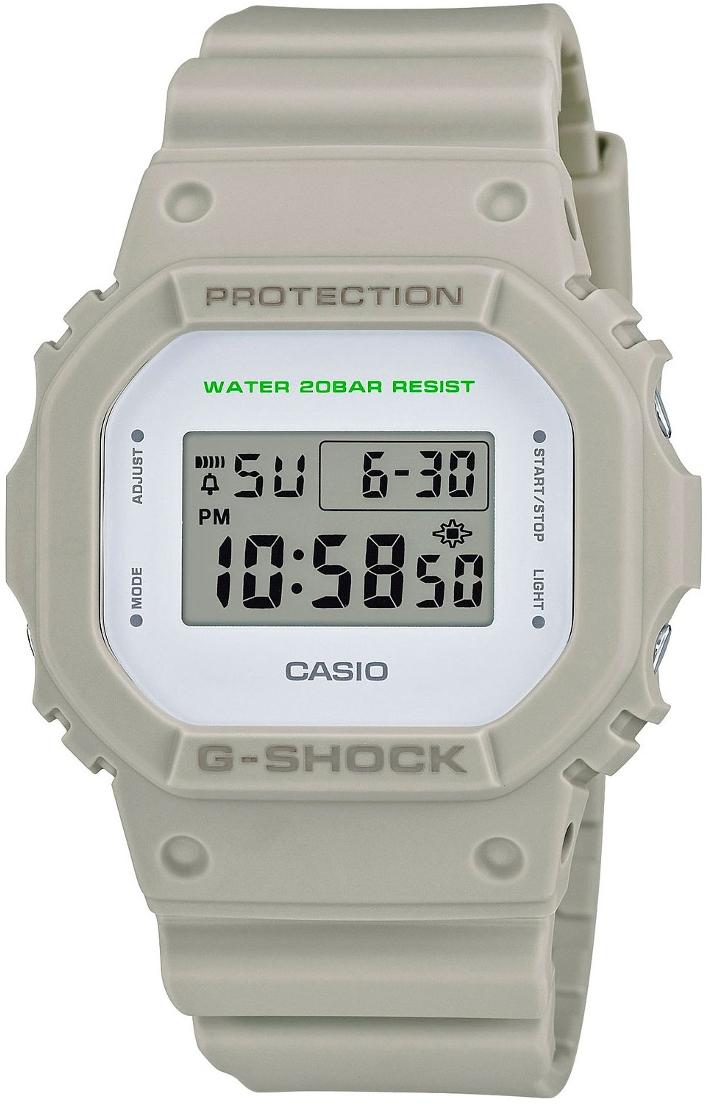 Casio G-shock G-Classic DW-5600M-8EНаручные часы<br>Японские часы Casio G-shock G-Classic DW-5600M-8E<br><br>Пол: Мужские<br>Страна-производитель: Япония<br>Механизм: Кварцевый<br>Материал корпуса: Пластик<br>Материал ремня/браслета: Пластик<br>Водозащита, диапазон: None<br>Стекло: Минеральное<br>Толщина корпуса: 13,4 мм<br>Стиль: None
