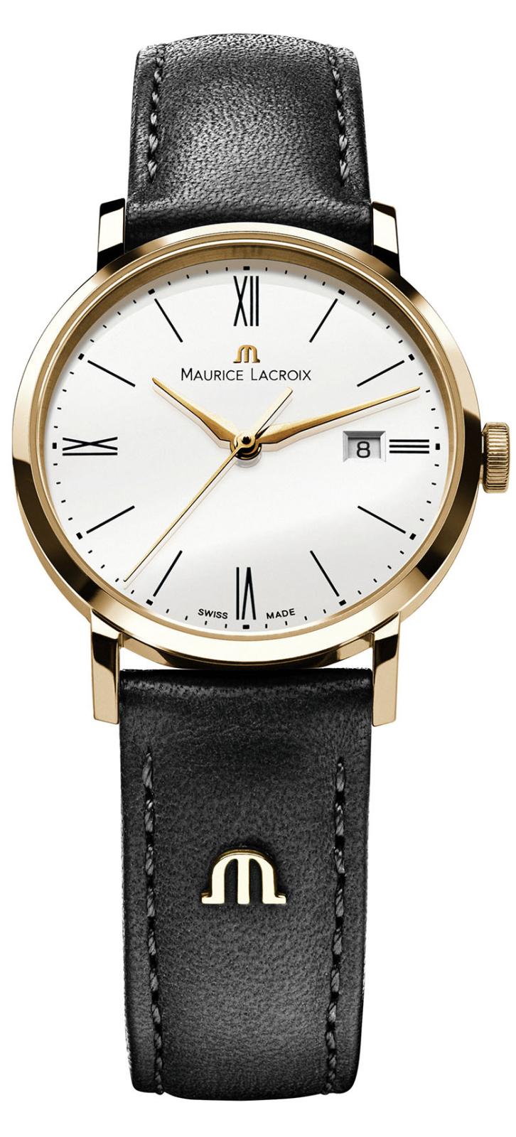 Maurice Lacroix Eliros EL1087-PVP01-110Наручные часы<br>Швейцарские часы Maurice Lacroix Eliros EL1087-PVP01-110Данная модель — яркий представитель коллекции Eliros. Это великолепные Мужские часы. Материал корпуса часов — Сталь+Золото. Ремень — Кожа. В этих часах используется Сапфировое стекло. Водозащита - 50 м. Часы обладают корпусом 38мм.<br><br>Пол: Мужские<br>Страна-производитель: Швейцария<br>Механизм: Кварцевый<br>Материал корпуса: Сталь+Золото<br>Материал ремня/браслета: Кожа<br>Водозащита, диапазон: 20 - 100 м<br>Стекло: Сапфировое<br>Толщина корпуса: None<br>Стиль: None