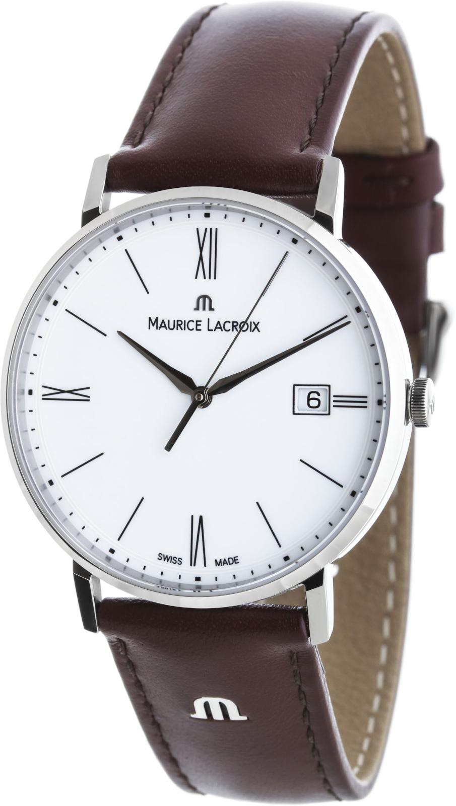 Maurice Lacroix Eliros EL1087-SS001-111-2Наручные часы<br>Швейцарские часы Maurice Lacroix Eliros EL1087-SS001-111-2<br><br>Пол: Мужские<br>Страна-производитель: Швейцария<br>Механизм: Кварцевый<br>Материал корпуса: Сталь<br>Материал ремня/браслета: Кожа<br>Водозащита, диапазон: 20 - 100 м<br>Стекло: Сапфировое<br>Толщина корпуса: None<br>Стиль: Классика