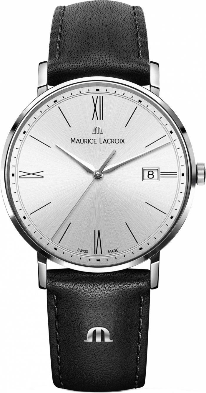 Maurice Lacroix Eliros Date EL1087-SS001-112-2Наручные часы<br>Швейцарские часы Maurice Lacroix Eliros Date EL1087-SS001-112-2<br><br>Пол: Мужские<br>Страна-производитель: Швейцария<br>Механизм: Кварцевый<br>Материал корпуса: Сталь<br>Материал ремня/браслета: Кожа<br>Водозащита, диапазон: 20 - 100 м<br>Стекло: Сапфировое<br>Толщина корпуса: None<br>Стиль: Классика