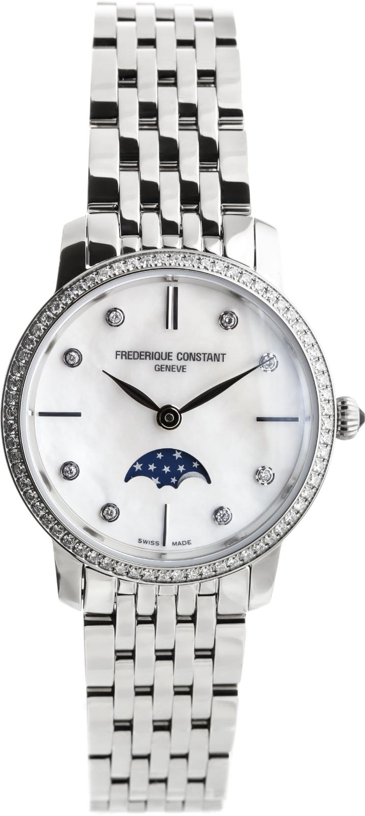 Frederique Constant Slim Line FC-206MPWD1SD6BНаручные часы<br>Швейцарские часы Frederique Constant Slim Line FC-206MPWD1SD6B<br><br>Пол: Женские<br>Страна-производитель: Швейцария<br>Механизм: Кварцевый<br>Материал корпуса: Сталь<br>Материал ремня/браслета: Сталь<br>Водозащита, диапазон: 20 - 100 м<br>Стекло: Сапфировое<br>Толщина корпуса: 8 мм<br>Стиль: Классика
