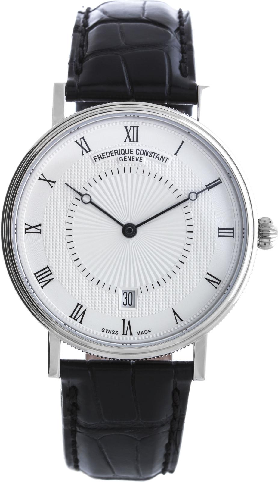 Frederique Constant Slim Line FC-306MC4S36Наручные часы<br>Швейцарские часы Frederique Constant Slim Line FC-306MC4S36<br><br>Пол: Мужские<br>Страна-производитель: Швейцария<br>Механизм: Механический<br>Материал корпуса: Сталь<br>Материал ремня/браслета: Кожа<br>Водозащита, диапазон: 20 - 100 м<br>Стекло: Сапфировое<br>Толщина корпуса: 8 мм<br>Стиль: Классика