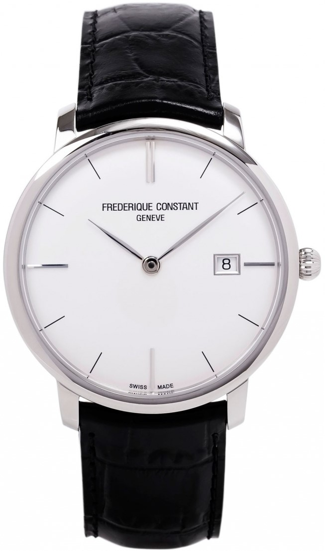 Frederique Constant Slim Line FC-306S4S6Наручные часы<br>Швейцарские часы Frederique Constant Slim Line FC-306S4S6Данная модель &amp;mdash; яркий представитель коллекции Slim Line. Это стильные мужские часы. Материал корпуса часов &amp;mdash; сталь. В этих часах используется сапфировое стекло. Часы этой модели обладают водозащитой 30 м. Основной цвет циферблата белый. Диаметр корпуса часов составляет 40мм.<br><br>Пол: Мужские<br>Страна-производитель: Швейцария<br>Механизм: Механический<br>Материал корпуса: Сталь<br>Материал ремня/браслета: Кожа<br>Водозащита, диапазон: 20 - 100 м<br>Стекло: Сапфировое<br>Толщина корпуса: None<br>Стиль: Классика
