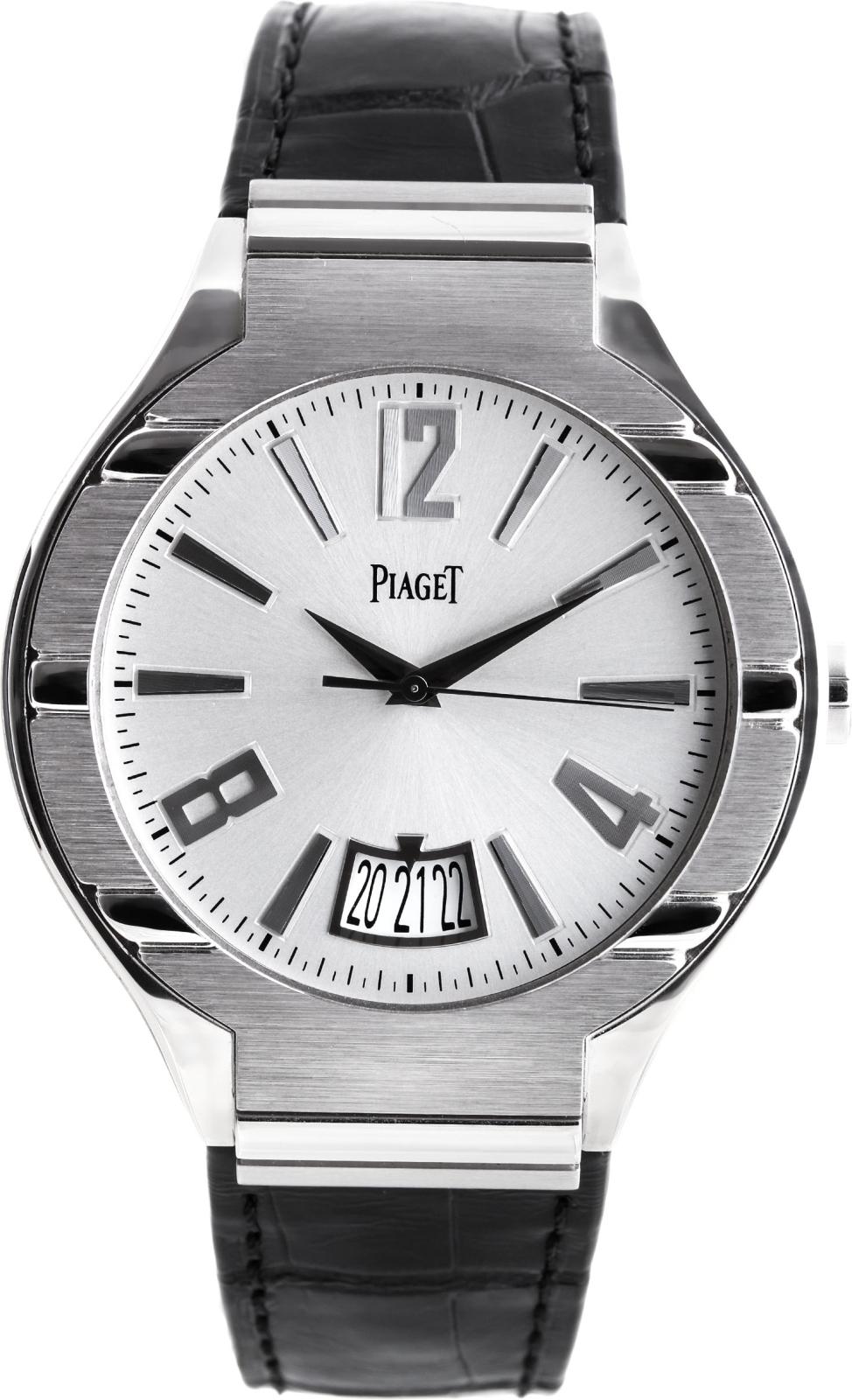 Piaget Polo G0A31139Наручные часы<br>Швейцарские часы Piaget Polo G0A31139<br><br>Пол: Мужские<br>Страна-производитель: Швейцария<br>Механизм: Механический<br>Материал корпуса: Белое золото 18К<br>Материал ремня/браслета: Кожа<br>Водозащита, диапазон: 20 - 100 м<br>Стекло: Сапфировое<br>Толщина корпуса: 10 мм<br>Стиль: Спорт