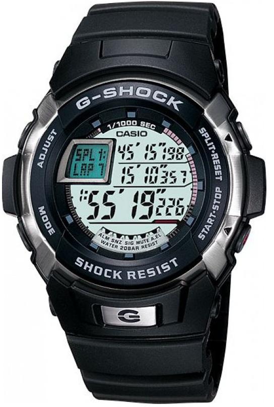 Casio G-shock G-Classic G-7700-1EНаручные часы<br>Японские часы Casio G-shock G-Classic G-7700-1E<br><br>Пол: Мужские<br>Страна-производитель: Япония<br>Механизм: Кварцевый<br>Материал корпуса: Сталь+пластик<br>Материал ремня/браслета: Пластик<br>Водозащита, диапазон: None<br>Стекло: Минеральное<br>Толщина корпуса: None<br>Стиль: None