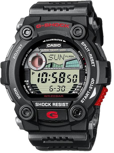 Casio G-shock G-Classic G-7900-1EНаручные часы<br>Японские часы Casio G-shock G-Classic G-7900-1E<br><br>Пол: Мужские<br>Страна-производитель: Япония<br>Механизм: Кварцевый<br>Материал корпуса: Пластик<br>Материал ремня/браслета: Пластик<br>Водозащита, диапазон: None<br>Стекло: Минеральное<br>Толщина корпуса: 17,7 мм<br>Стиль: None