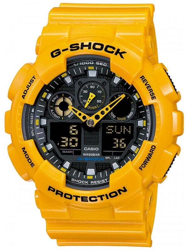 Casio G-shock G-Classic GA-100A-9AНаручные часы<br>Японские часы Casio G-shock G-Classic GA-100A-9A<br><br>Пол: Мужские<br>Страна-производитель: Япония<br>Механизм: Кварцевый<br>Материал корпуса: Пластик<br>Материал ремня/браслета: Пластик<br>Водозащита, диапазон: None<br>Стекло: Минеральное<br>Толщина корпуса: 16,9 мм<br>Стиль: None