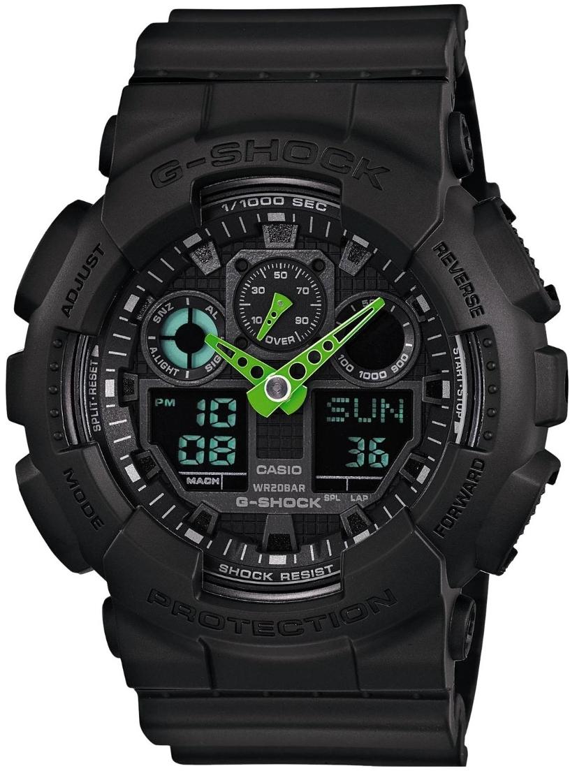 Casio G-shock G-Classic GA-100C-1A3Наручные часы<br>Японские часы Casio G-shock G-Classic GA-100C-1A3<br><br>Пол: Мужские<br>Страна-производитель: Япония<br>Механизм: Кварцевый<br>Материал корпуса: Пластик<br>Материал ремня/браслета: Пластик<br>Водозащита, диапазон: None<br>Стекло: Минеральное<br>Толщина корпуса: 16,9 мм<br>Стиль: None