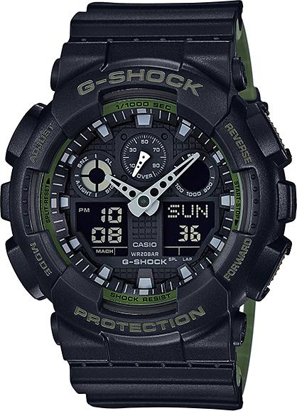 Casio G-shock GA-100L-1AНаручные часы<br>Японские часы Casio G-shock GA-100L-1A<br><br>Пол: Мужские<br>Страна-производитель: Япония<br>Механизм: Кварцевый<br>Материал корпуса: Пластик<br>Материал ремня/браслета: Каучук<br>Водозащита, диапазон: None<br>Стекло: Минеральное<br>Толщина корпуса: 16,9 мм<br>Стиль: None