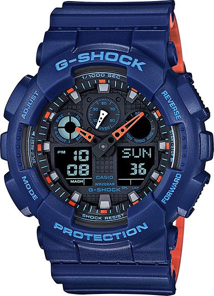 Casio G-shock GA-100L-2AНаручные часы<br>Японские часы Casio G-shock GA-100L-2A<br><br>Пол: Мужские<br>Страна-производитель: Япония<br>Механизм: Кварцевый<br>Материал корпуса: Пластик<br>Материал ремня/браслета: Каучук<br>Водозащита, диапазон: None<br>Стекло: Минеральное<br>Толщина корпуса: 16,9 мм<br>Стиль: None