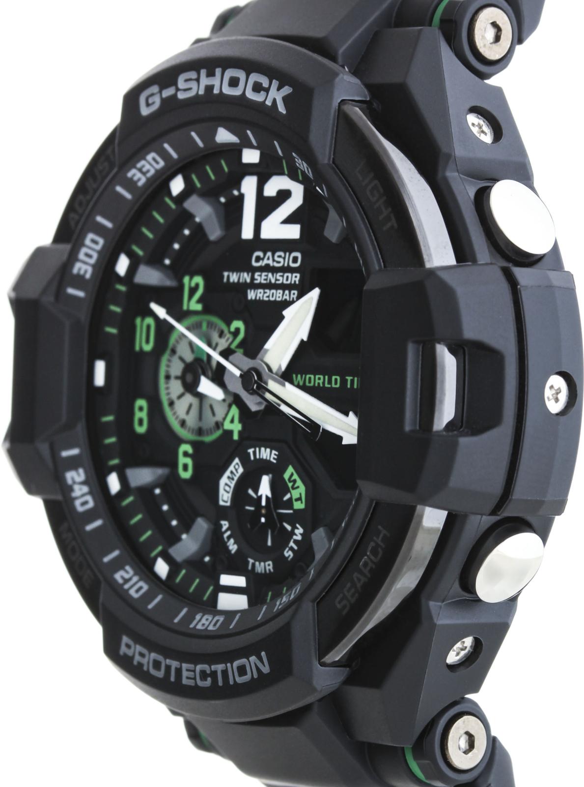 Casio G-shock Gravitymaster GA-1100-1A3Наручные часы<br>Японские часы Casio G-shock Gravitymaster GA-1100-1A3<br><br>Пол: Мужские<br>Страна-производитель: Япония<br>Механизм: Кварцевый<br>Материал корпуса: Пластик<br>Материал ремня/браслета: Каучук<br>Водозащита, диапазон: None<br>Стекло: Минеральное<br>Толщина корпуса: 16,6 мм<br>Стиль: None