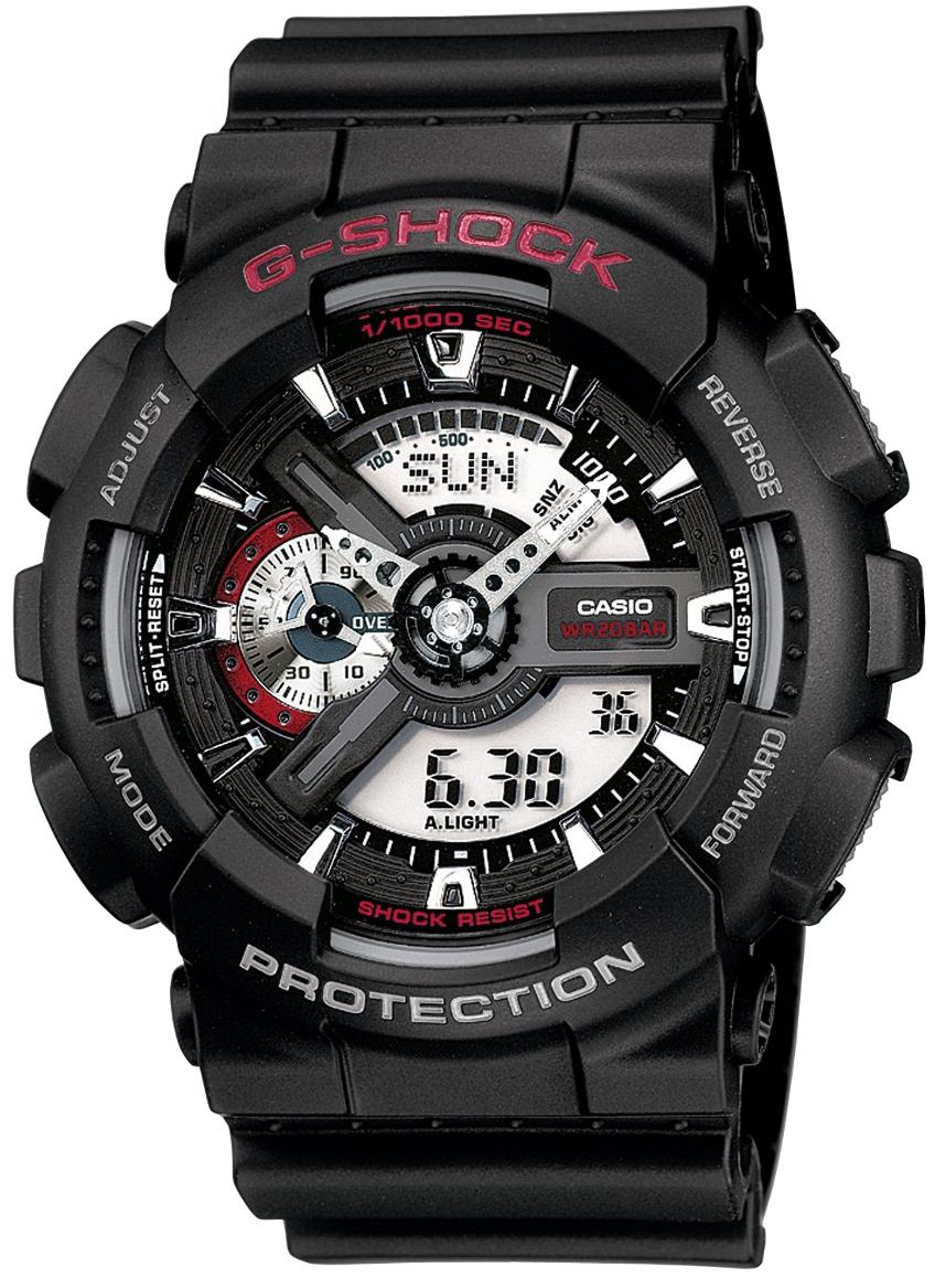 Casio G-shock GA-110-1AНаручные часы<br>Японские часы Casio G-shock GA-110-1A<br><br>Пол: Мужские<br>Страна-производитель: Япония<br>Механизм: Кварцевый<br>Материал корпуса: Пластик<br>Материал ремня/браслета: Каучук<br>Водозащита, диапазон: None<br>Стекло: Минеральное<br>Толщина корпуса: 16,9 мм<br>Стиль: None