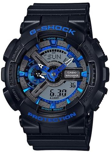 Casio G-shock G-Classic GA-110CB-1AНаручные часы<br>Японские часы Casio G-shock G-Classic GA-110CB-1A<br><br>Пол: Мужские<br>Страна-производитель: Япония<br>Механизм: Кварцевый<br>Материал корпуса: Пластик<br>Материал ремня/браслета: Пластик<br>Водозащита, диапазон: None<br>Стекло: Минеральное<br>Толщина корпуса: 16,9 мм<br>Стиль: None
