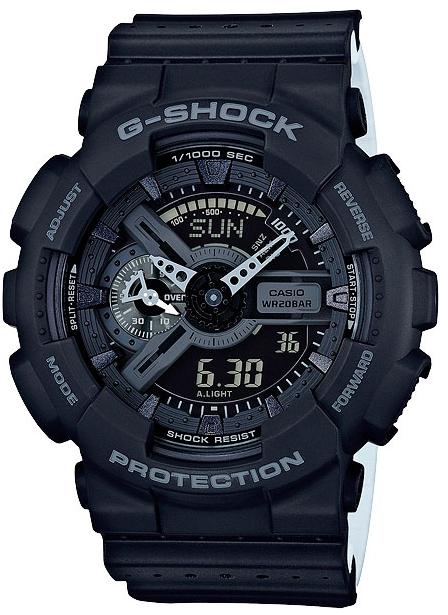 Casio G-shock Punching Pattern GA-110LP-1AНаручные часы<br>Японские часы Casio G-shock Punching Pattern GA-110LP-1A<br><br>Пол: Мужские<br>Страна-производитель: Япония<br>Механизм: Кварцевый<br>Материал корпуса: Пластик<br>Материал ремня/браслета: Пластик<br>Водозащита, диапазон: None<br>Стекло: Минеральное<br>Толщина корпуса: 16,9 мм<br>Стиль: None