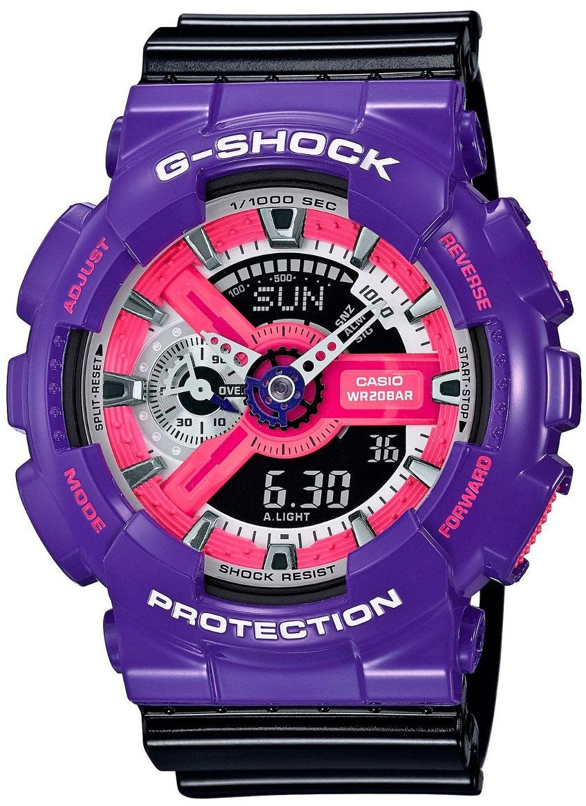 Casio G-shock GA-110NC-6AНаручные часы<br>Японские часы Casio G-shock GA-110NC-6A<br><br>Пол: Мужские<br>Страна-производитель: Япония<br>Механизм: Кварцевый<br>Материал корпуса: Пластик<br>Материал ремня/браслета: Каучук<br>Водозащита, диапазон: None<br>Стекло: Минеральное<br>Толщина корпуса: 16,9 мм<br>Стиль: None