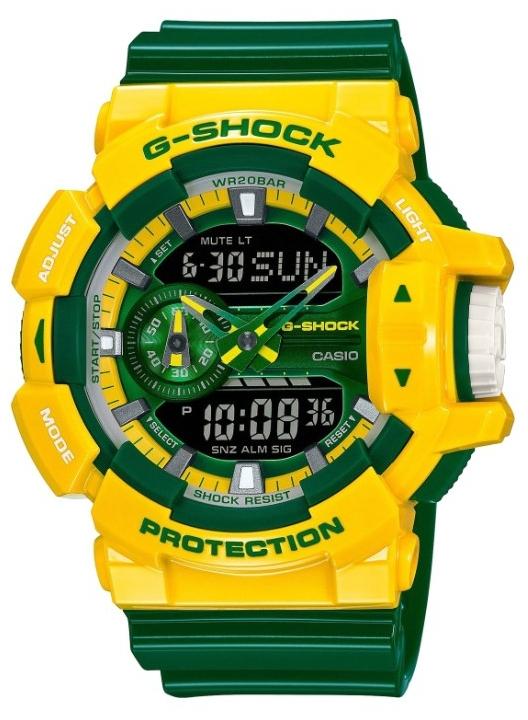 Casio G-shock G-Specials GA-400CS-9AНаручные часы<br>Японские часы Casio G-shock G-Specials GA-400CS-9A<br><br>Пол: Мужские<br>Страна-производитель: Япония<br>Механизм: Кварцевый<br>Материал корпуса: Пластик<br>Материал ремня/браслета: Каучук<br>Водозащита, диапазон: None<br>Стекло: Минеральное<br>Толщина корпуса: 18,3 мм<br>Стиль: None