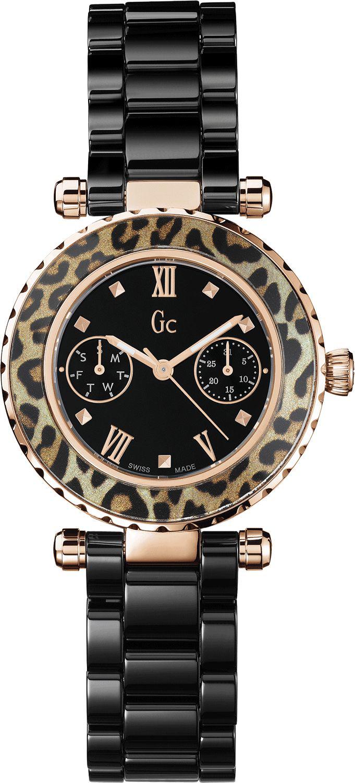 GC Sport Chic X35016L2SНаручные часы<br>Швейцарские часы GC Sport Chic X35016L2S<br><br>Для кого?: Женские<br>Страна-производитель: Швейцария<br>Механизм: Кварцевый<br>Материал корпуса: Сталь<br>Материал ремня/браслета: Керамика<br>Водозащита, диапазон: 100 - 150 м<br>Стекло: Сапфировое<br>Толщина корпуса: 9 мм<br>Стиль: Спорт