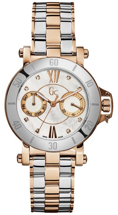 Gc Precious X74104L1SНаручные часы<br>Швейцарские часы Gc Precious X74104L1SДанная модель входит в коллекцию Precious. Это великолепные женские часы. Материал корпуса часов — сталь+золото. Циферблат часов защищает сапфировое стекло. Водозащита - 100 м.<br><br>Для кого?: Женские<br>Страна-производитель: Швейцария<br>Механизм: Кварцевый<br>Материал корпуса: Сталь+Золото<br>Материал ремня/браслета: Сталь+Золото<br>Водозащита, диапазон: 100 - 150 м<br>Стекло: Сапфировое<br>Толщина корпуса: None<br>Стиль: None