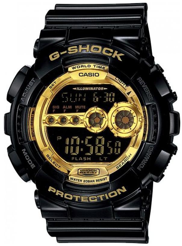 Casio G-shock GD-100GB-1EНаручные часы<br>Японские часы Casio G-shock GD-100GB-1E<br><br>Пол: Мужские<br>Страна-производитель: Япония<br>Механизм: Кварцевый<br>Материал корпуса: Пластик<br>Материал ремня/браслета: Каучук<br>Водозащита, диапазон: None<br>Стекло: Минеральное<br>Толщина корпуса: 17,4 мм<br>Стиль: None