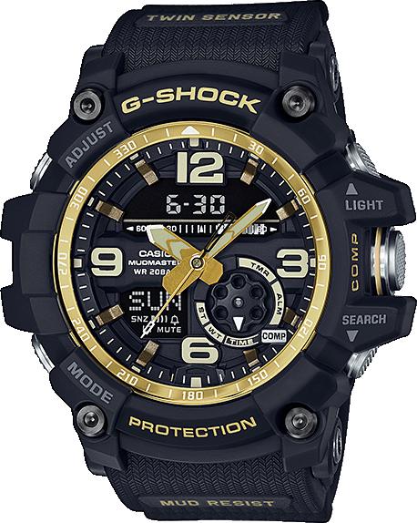 Casio G-shock Mudmaster GG-1000GB-1AНаручные часы<br>Японские часы Casio G-shock Mudmaster GG-1000GB-1A<br><br>Пол: Мужские<br>Страна-производитель: Япония<br>Механизм: Кварцевый<br>Материал корпуса: Сталь+пластик<br>Материал ремня/браслета: Каучук<br>Водозащита, диапазон: None<br>Стекло: Минеральное<br>Толщина корпуса: 17,1 мм<br>Стиль: None