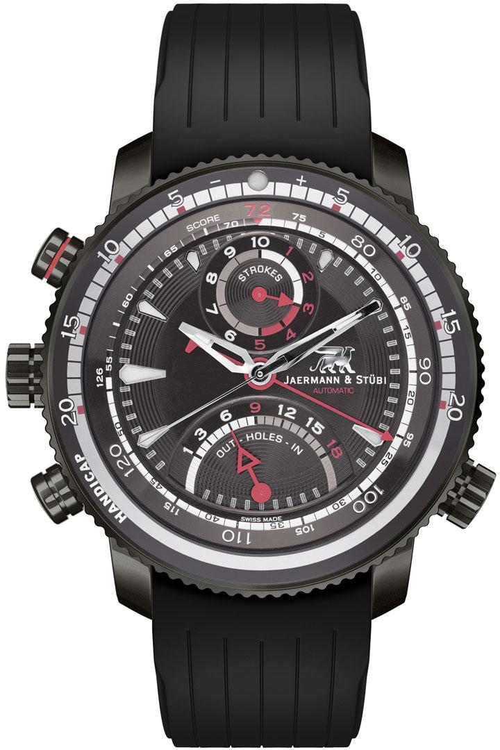 Jaermann &amp; Stubi Eagle Heart EH2Наручные часы<br>Швейцарские часы Jaermann &amp; Stubi Eagle Heart EH2Представленная модель входит в коллекцию Eagle Heart. Это настоящие мужские часы. Материал корпуса часов — титан. Стекло - сапфировое. Водозащита этих часов 100 м. Размер данной модели 44мм.<br><br>Пол: Мужские<br>Страна-производитель: Швейцария<br>Механизм: Механический<br>Материал корпуса: Титан<br>Материал ремня/браслета: Каучук<br>Водозащита, диапазон: 100 - 150 м<br>Стекло: Сапфировое<br>Толщина корпуса: None<br>Стиль: None