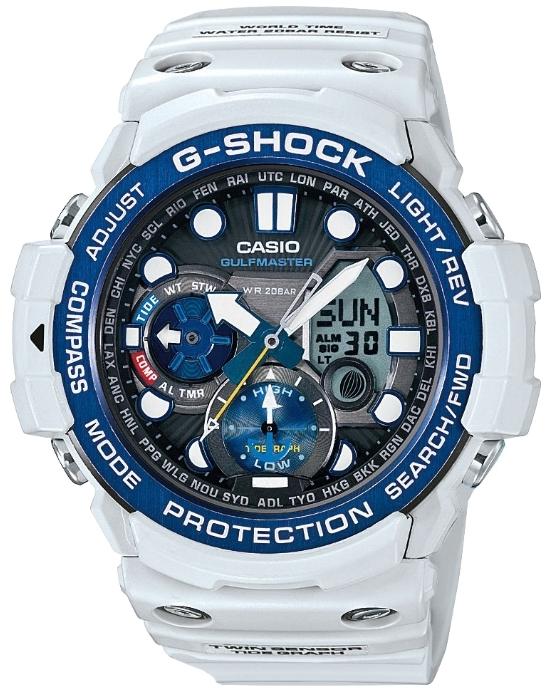 Casio G-shock Gulfmaster GN-1000C-8AНаручные часы<br>Японские часы Casio G-shock Gulfmaster GN-1000C-8A<br><br>Пол: Мужские<br>Страна-производитель: Япония<br>Механизм: Кварцевый<br>Материал корпуса: Пластик<br>Материал ремня/браслета: Каучук<br>Водозащита, диапазон: None<br>Стекло: Минеральное<br>Толщина корпуса: 15,9 мм<br>Стиль: None