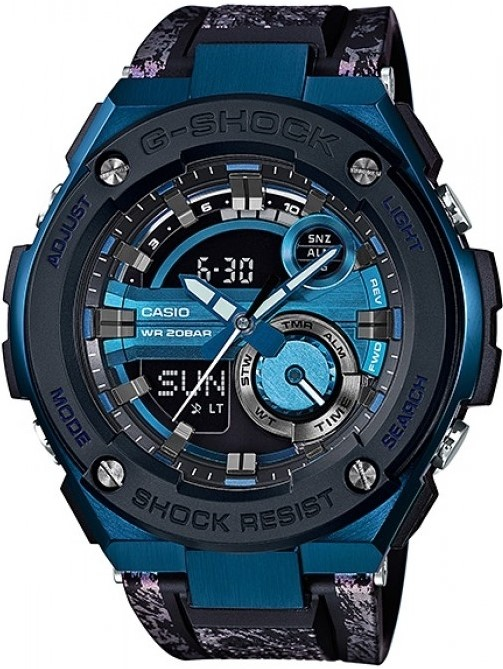 Casio G-shock G-Steel GST-200CP-2AНаручные часы<br>Японские часы Casio G-shock G-Steel GST-200CP-2A<br><br>Пол: Мужские<br>Страна-производитель: Япония<br>Механизм: Кварцевый<br>Материал корпуса: Сталь+пластик<br>Материал ремня/браслета: Каучук<br>Водозащита, диапазон: None<br>Стекло: Минеральное<br>Толщина корпуса: 16,1 мм<br>Стиль: None