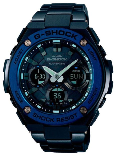 Casio G-shock G-Steel GST-W110BD-1A2Наручные часы<br>Японские часы Casio G-shock G-Steel GST-W110BD-1A2<br><br>Пол: Мужские<br>Страна-производитель: Япония<br>Механизм: Кварцевый<br>Материал корпуса: Сталь<br>Материал ремня/браслета: Сталь<br>Водозащита, диапазон: None<br>Стекло: Минеральное<br>Толщина корпуса: 16,1 мм<br>Стиль: None