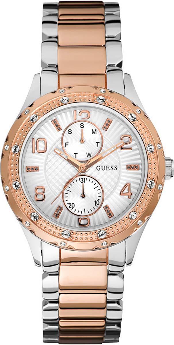 Guess Siren W0442L4Наручные часы<br>Американские часы Guess Siren W0442L4<br><br>Для кого?: Женские<br>Страна-производитель: США<br>Механизм: Кварцевый<br>Материал корпуса: Сталь<br>Материал ремня/браслета: Сталь<br>Водозащита, диапазон: 20 - 100 м<br>Стекло: Минеральное<br>Толщина корпуса: 11.5 мм<br>Стиль: Классика