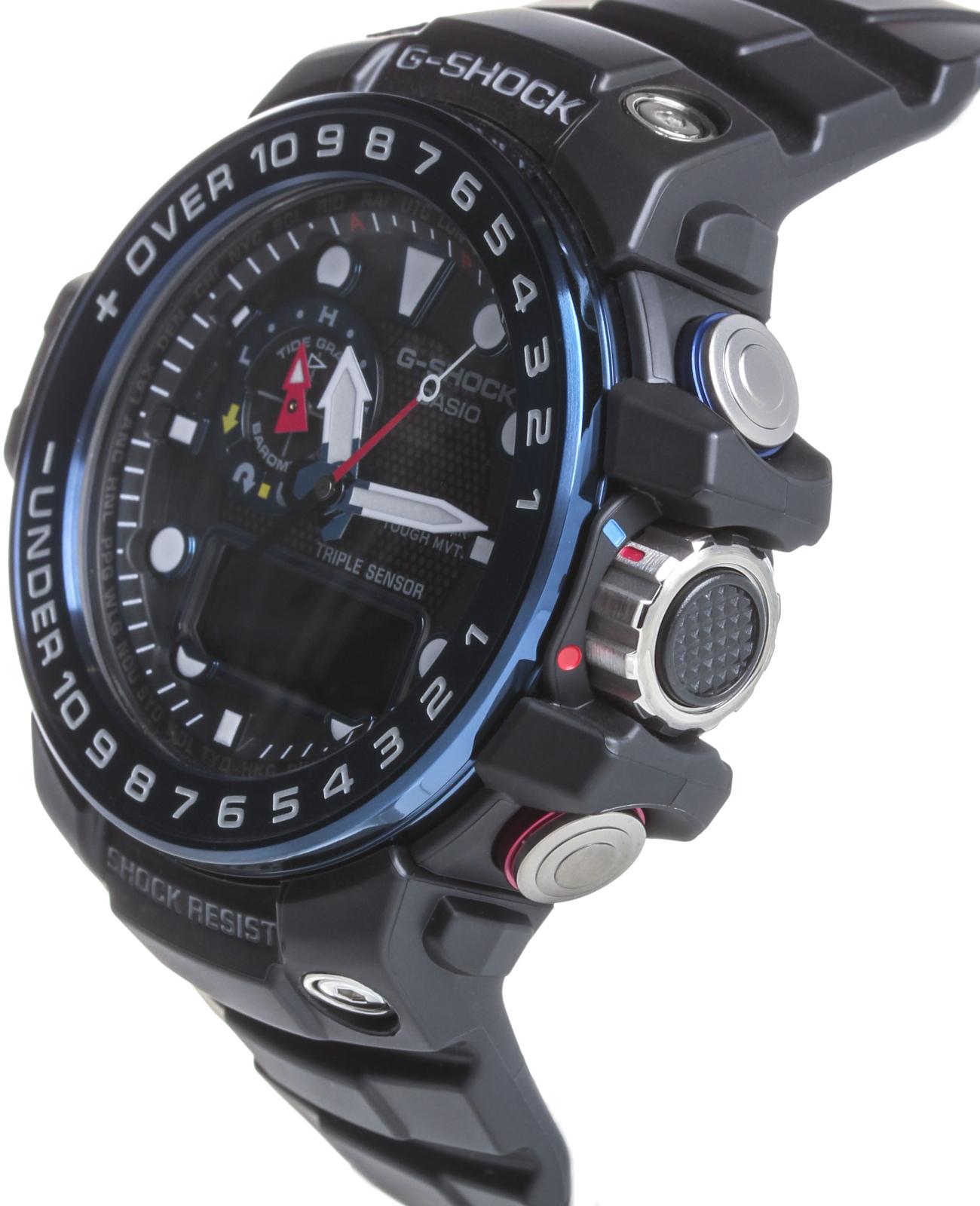 Casio G-shock Gulfmaster GWN-1000B-1BНаручные часы<br>Японские часы Casio G-shock Gulfmaster GWN-1000B-1B<br><br>Пол: Мужские<br>Страна-производитель: Япония<br>Механизм: Кварцевый<br>Материал корпуса: Сталь+пластик<br>Материал ремня/браслета: Каучук<br>Водозащита, диапазон: None<br>Стекло: Минеральное<br>Толщина корпуса: 16,2 мм<br>Стиль: None
