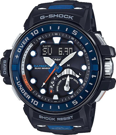Casio G-shock Gulfmaster GWN-Q1000-1AНаручные часы<br>Японские часы Casio G-shock Gulfmaster GWN-Q1000-1A<br><br>Пол: Мужские<br>Страна-производитель: Япония<br>Механизм: Кварцевый<br>Материал корпуса: Пластик<br>Материал ремня/браслета: Каучук<br>Водозащита, диапазон: None<br>Стекло: Минеральное<br>Толщина корпуса: 17 мм<br>Стиль: None