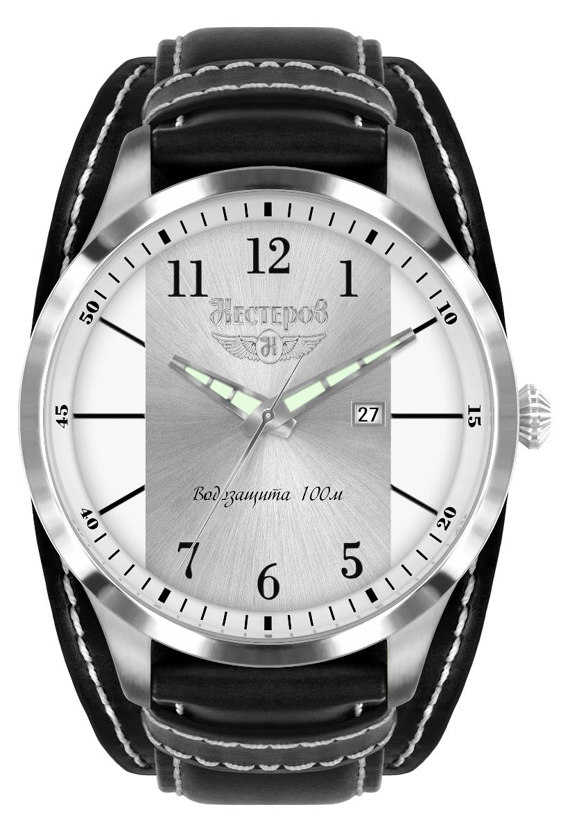 Нестеров И-15 бис H0983A02-05EНаручные часы<br>Российские часы Нестеров И-15 бис H0983A02-05E<br><br>Пол: Мужские<br>Страна-производитель: Россия<br>Механизм: Кварцевый<br>Материал корпуса: Сталь<br>Материал ремня/браслета: Кожа<br>Водозащита, диапазон: None<br>Стекло: Минеральное<br>Толщина корпуса: 12 мм<br>Стиль: None