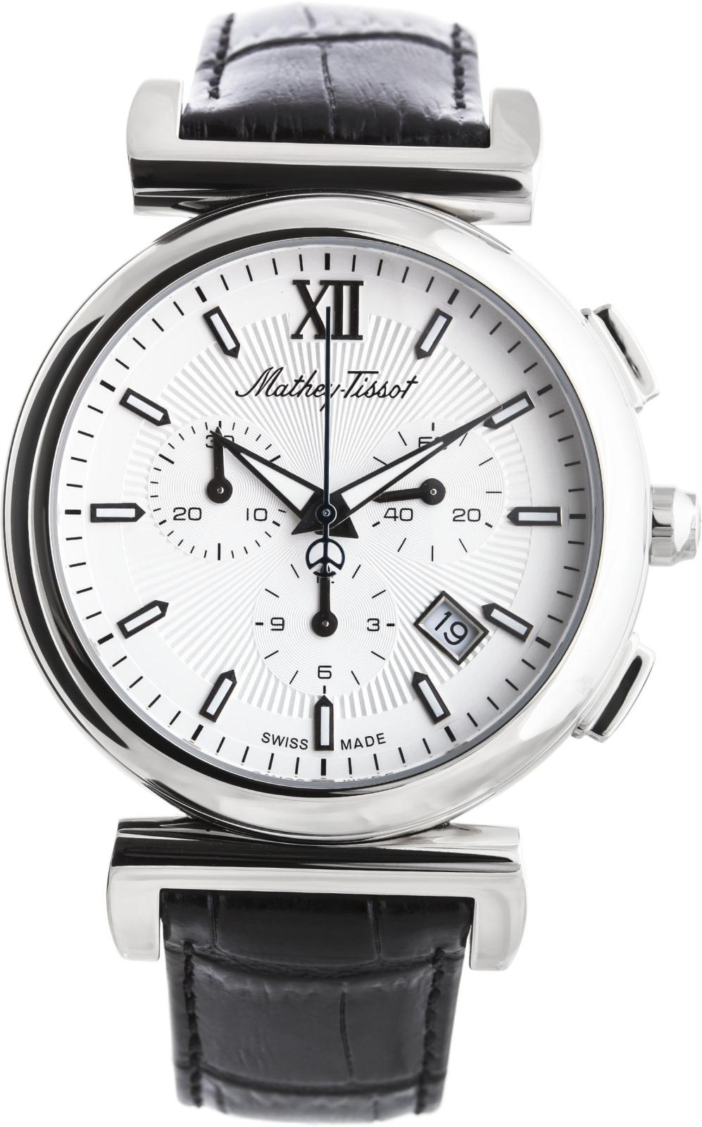 Mathey-Tissot Elegance H410PLIНаручные часы<br>Швейцарские часы Mathey-Tissot Elegance H410PLI<br><br>Пол: Мужские<br>Страна-производитель: Швейцария<br>Механизм: Кварцевый<br>Материал корпуса: Сталь<br>Материал ремня/браслета: Кожа<br>Водозащита, диапазон: None<br>Стекло: Сапфировое<br>Толщина корпуса: 10 мм<br>Стиль: None
