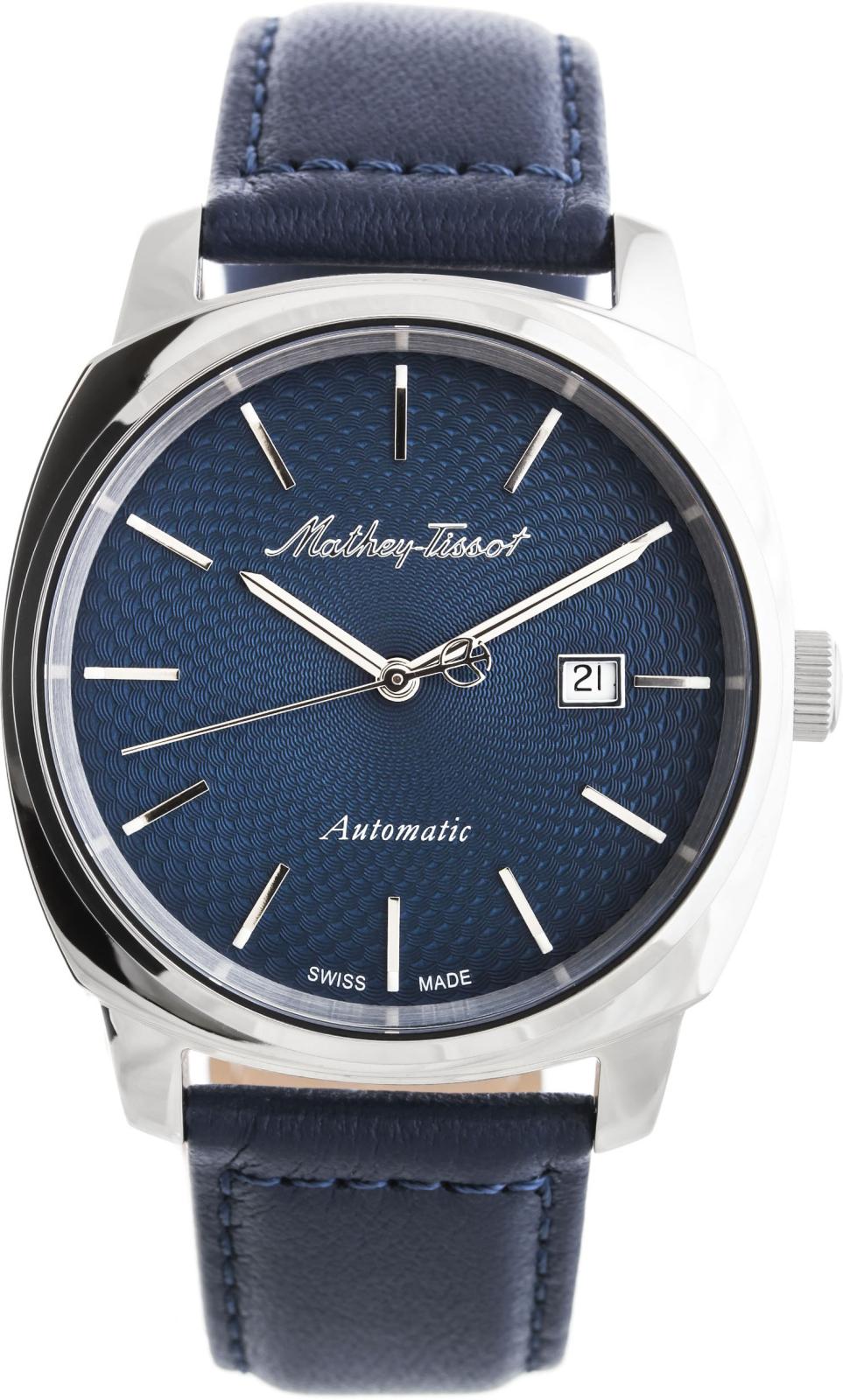 Mathey-Tissot Smart H6940ATBUНаручные часы<br>Швейцарские часы Mathey-Tissot Smart H6940ATBU<br><br>Пол: Мужские<br>Страна-производитель: Швейцария<br>Механизм: Кварцевый<br>Материал корпуса: Сталь<br>Материал ремня/браслета: Кожа<br>Водозащита, диапазон: None<br>Стекло: Сапфировое<br>Толщина корпуса: 11 мм<br>Стиль: None